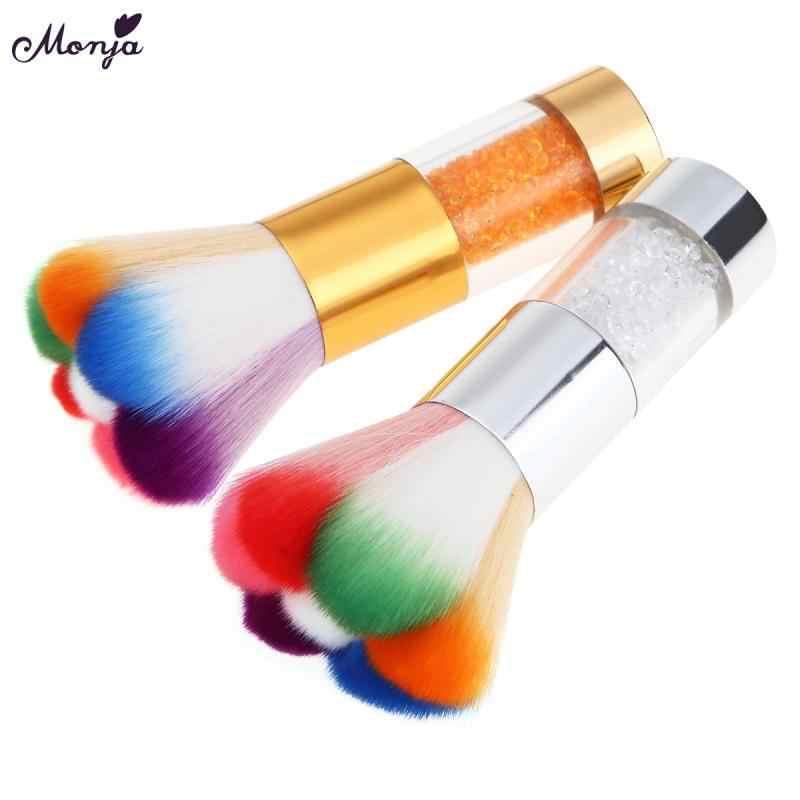 2 цвета, высокое качество, алмазная щетка для чистки ногтей, мягкая кисть для дизайна ногтей, для акрила и УФ-геля, щетка для очистки пыли, инструменты для маникюра и педикюра
