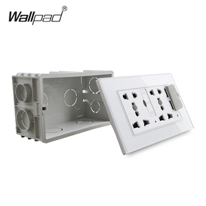 Image 4 - Wallpad S6 Glass Panel Double 5 Pin Universal Socket with 3.1A 2 x USB Charging Ports,  EU UK US Wall Power Outlet MF Socket