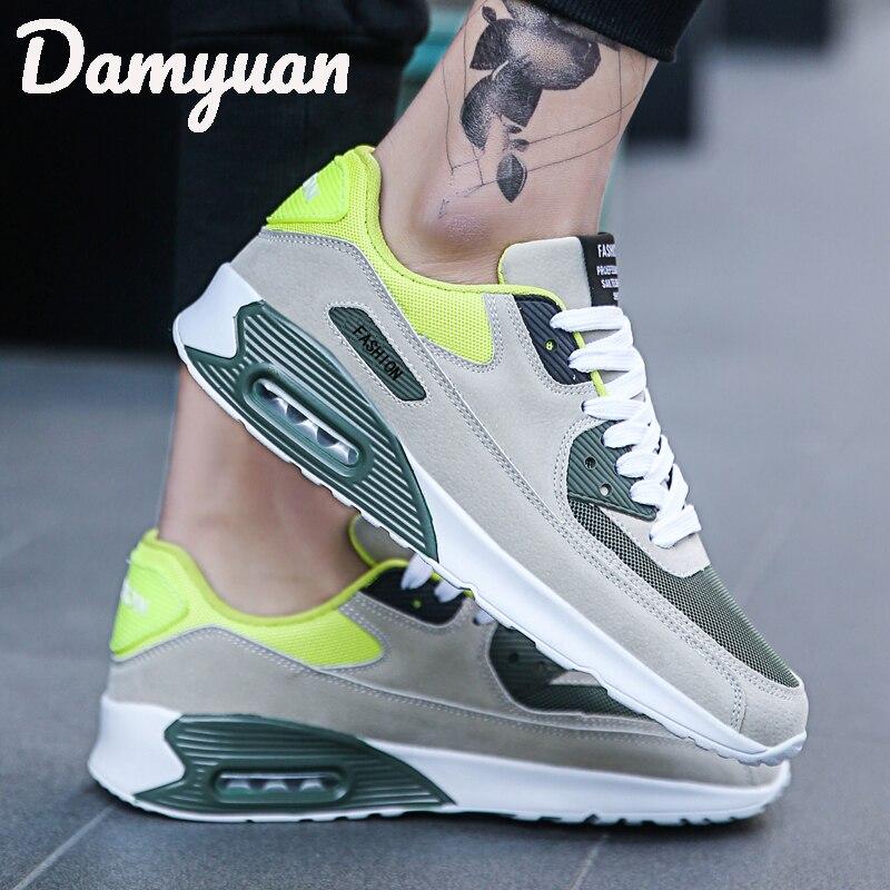2019 Damyuan men running shoes air cushion mesh breathable comfort fitness shock absorption wear fashion casual shoes zapatillas de moda 2019 hombre