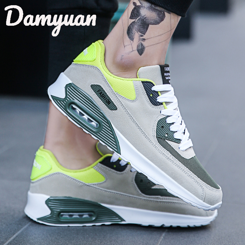 2019 Damyuan Men Running Shoes Air Cushion Mesh Breathable Comfort Fitness Shock Absorption Wear Fashion Casual Shoes