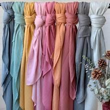 Manta de muselina de Color sólido para bebé, envoltura de algodón de bambú, accesorios de fotografía recién nacido