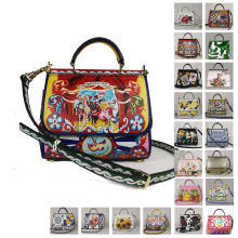 luxuri handbag woman bag design female f fashion designer luxury handbags Women's bags Miss Sicily Flowers ladies Floral summer