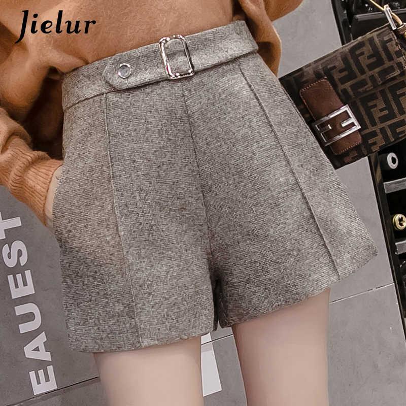 Design Slim Taille Haute ZSCRL Short en Laine Design Plus /épais Bottes /à Jambes Larges