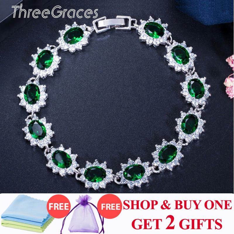NEW Women/'s 925 Sterling Silver Gem Blue Zircon Cluster Charms Bracelet Gift