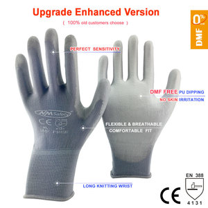 Image 3 - NMSAFETY 12 pairs Working Protective Glove Men Flexible Nylon or Polyester Safety Work Gloves