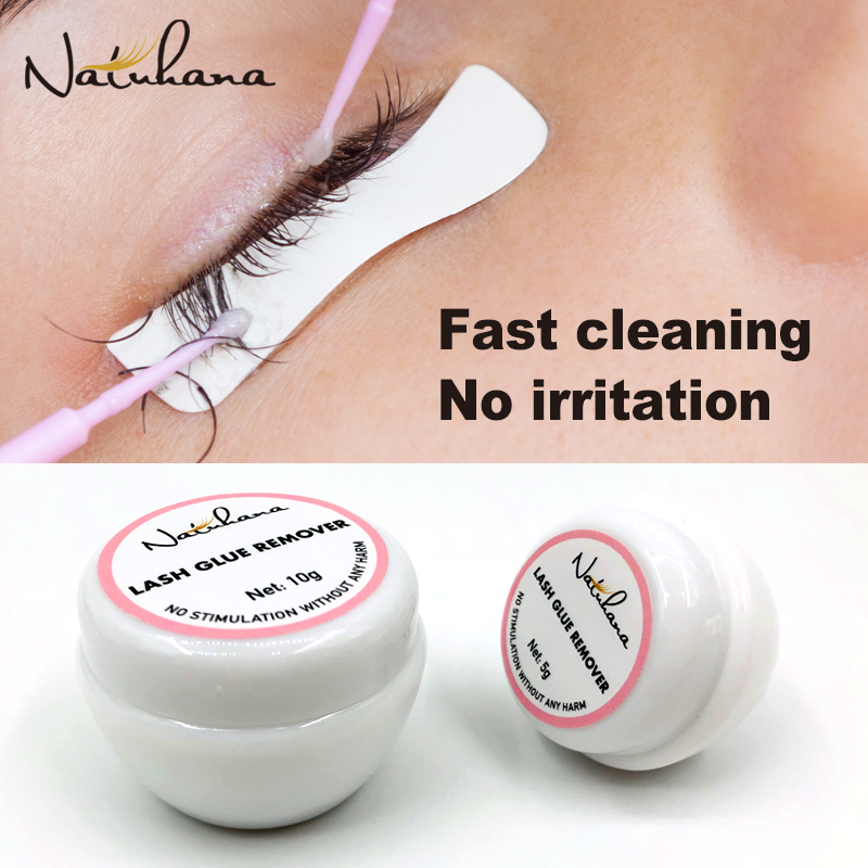 NATUHANA 5g/10g/15g Fast Cleaning Eyelash Extension Glue Remover Non Irritating Flase Lash Grafting Adhesive Gel Removing Cream