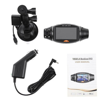 Set Driving Recorder 2.7-inch Dual Lens Camera Video With Night Vision