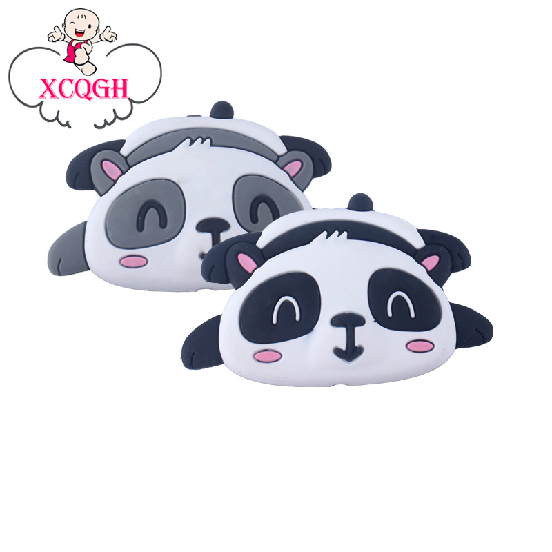 XCQGH 20pcs Silicone Cartoon Animal Panda Shape Teether Silicone Baby Molar Beads Pacifier Chain Accessories Baby TeetherBaby Teethers   -
