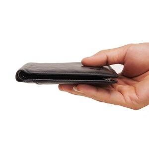Image 5 - GZCZ Rfid 100% portefeuille en cuir véritable hommes carte de crédit porte monnaie portofolio mince portefeuilles vallet porte carte walet pour les femmes 2020