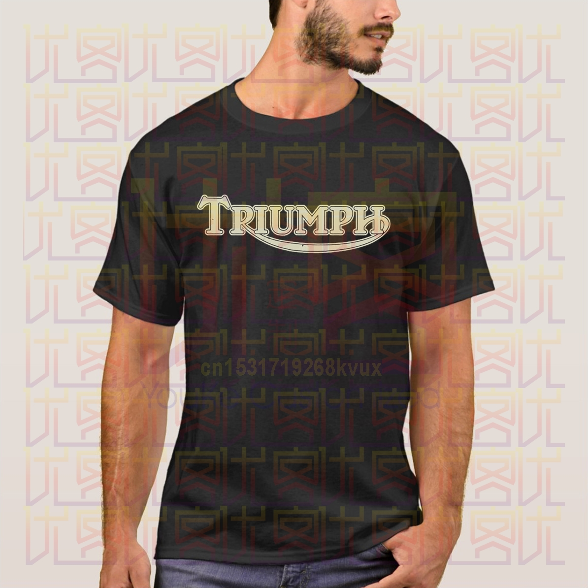 80s Hip Hop Vintage Triumph Motorcycle T-Shirts Men Tee Apparel Men's Creative Short Sleeve Xxl T-Shirt