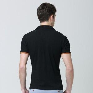 Image 2 - Męskie koszulki Polo męskie bawełniane koszulki Polo męskie koszulka Polo z krótkim rękawem męskie topy slim Casual oddychające jednokolorowe koszule biznesowe