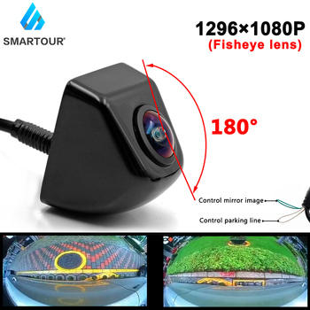 CCD HD 180 Degree Fisheye Lens Car Camera Rear / Front View Wide Angle Black Metal Reversing Backup Camera Night Vision 12V smartour hd ccd fisheye lens rear view camera ahd 1080p night vision backup parking waterproof for reversing monitor