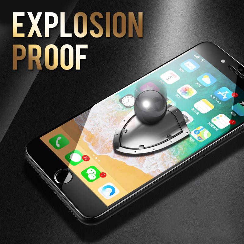 Pełny ekran szkło hartowane dla iphone XR X XS MAX 10 7 8 6 6s Plus 11 Pro MAX 11Pro pełny klej ekran osłona zabezpieczająca folia