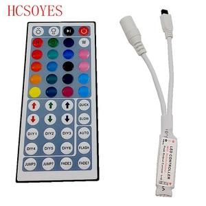 Image 4 - RGB LED قطاع تحكم صغير باهتة الأشعة تحت الحمراء RF اللاسلكية عن بعد 44 24 17 rgb مفتاح