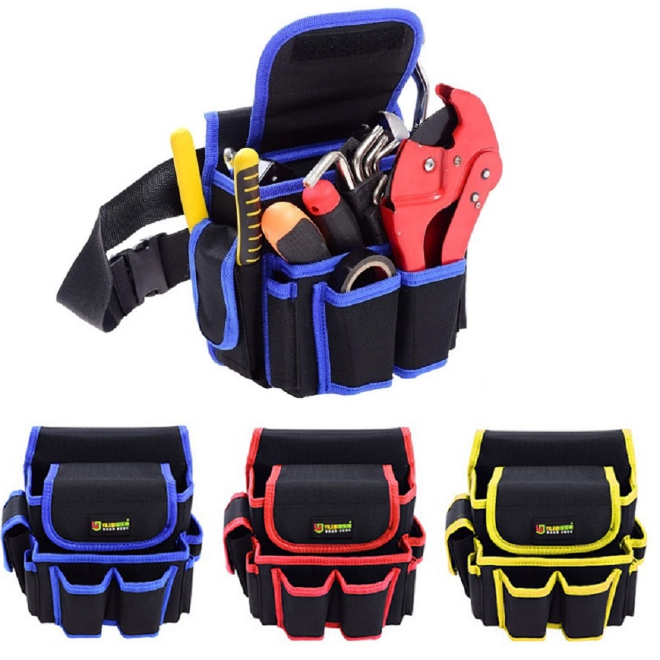 Profeesional Oxford Cloth Waterproof Electrician Waist Tool Belt Bag Backpack Hardware Hand Repair Tool Pocket Storage Pouch