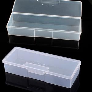 Caja de almacenamiento de brocas acrílicas para limar uñas, fácil Clasificación, contenedor de búfer, herramientas de fresado