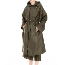 Trench-Coat respirant Ultra-fin à manches longues pour femme, coupe-vent ample, protection solaire, vêtements à la mode, printemps-automne, 2021