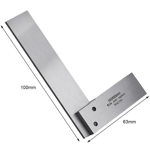 """4/"""" /& 6/"""" Right Angle 90 Degree with Box 4 PC Steel Hardened Square Set 2/"""",3/"""""""