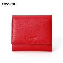real leather wallet women short genuine female purse mini wallets luxury brand coin