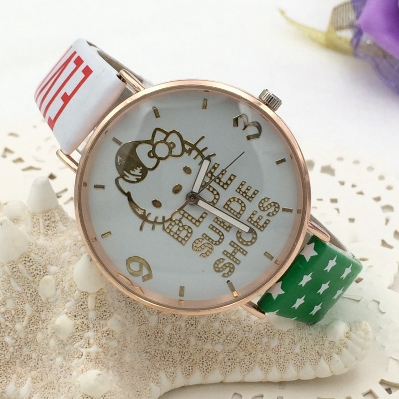 High Quality Children Watches 2019 New Fashion Girl Leather Strap Wristwatch Student Casual Quartz Watch Kids Lovely Cartoon