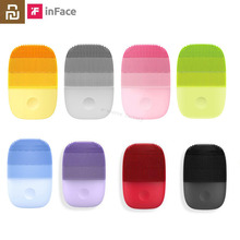 Youpin inFace Electric Deep Facial Cleaning Massage Brush Sonic Face Washing IPX7 Waterproof Silicone Face Cleanser Skin Care