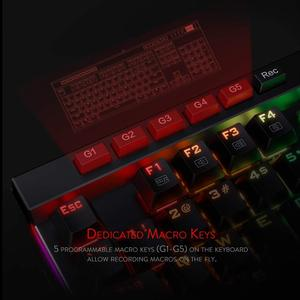 Image 4 - Redragon K580 VATA Mechanical Gaming Keyboard RGB LED Backlit 104 Keys Anti Ghosting Macro Keys Blue Switches for DOTA 2 Gamers