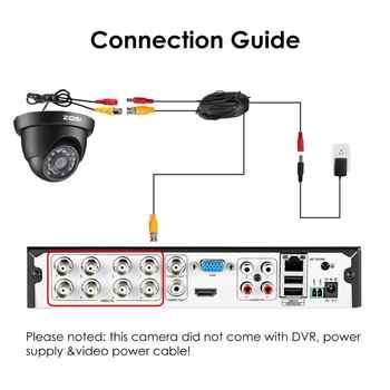 ZOSI 8CH CCTV System Set 1080N AHD TVI DVR 8PCS 1280TVL IR Outdoor Security Camera System videcam Video Surveillance DVR Kit