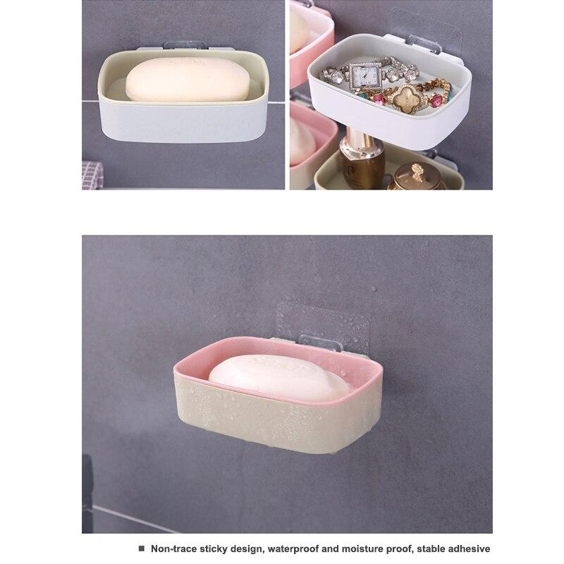 Мыло тарелка стена навесной липкий мыло держатель поднос ванная место для хранения тарелка стеллаж душ мыло ящик кухня полка корзина ванна аксессуары