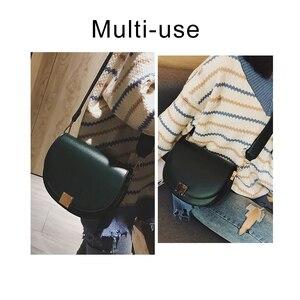 Image 2 - Brand Hoge Kwaliteit Pu Leer Vrouwen Hasp Zadel Tassen Designer Luxe Vrouwen Tas 2020 Famale Vintage Schouder Messenger Bags