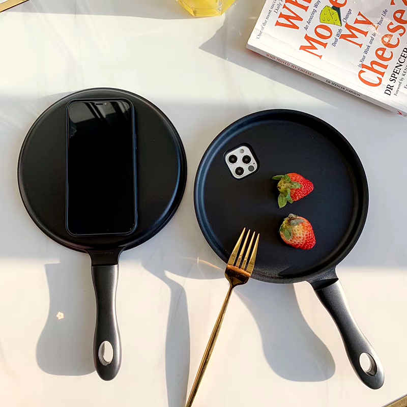 3D Frying Pan iPhone Case For iPhone 7 - 12 Pro Max Gifts for Mother Father Boyfriend : Veasoon