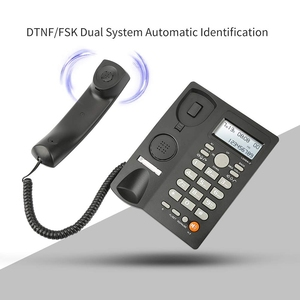 Image 1 - Masaüstü kablolu telefon ile arayan kimliği ekran, kablolu sabit telefon ev/otel/ofis için, ayarlanabilir hacim, gerçek zamanlı tarih W
