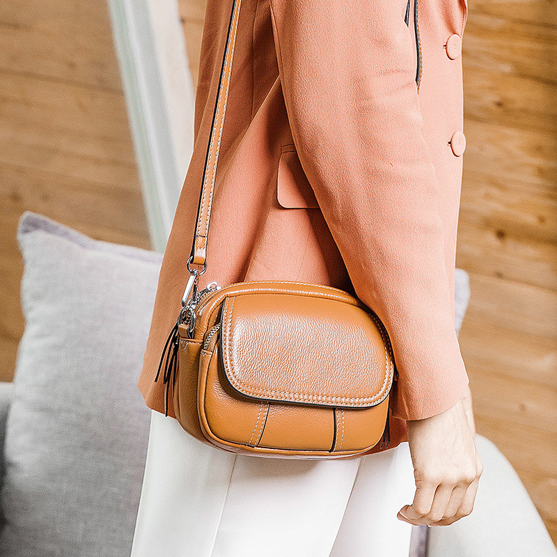 Female 2020 New Women Bag Genuine Leather Small Crossbody Bag For Girls Shoulder Messenger Bags Mini Colorful Candy Bags
