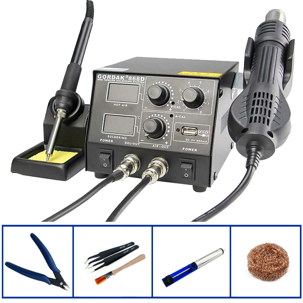 GORDAK 868D Constant Temperature High Power USB Interface Heat Gun Desoldering Station Mobile Phone Repair SMD Rework Stations image