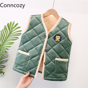 New Children's Vest Toddler Boy Winter Clothes Baby Vest Girl Thick Warm Vests Kids Coat Thickened Cotton Padded Vest Waistcoats