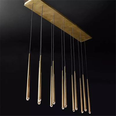 American Luxury Copper Chandelier Cable Pendant Chandelier Lighting RH Loft Led Hanging Lamp Living Room Lustre Suspend Lamp