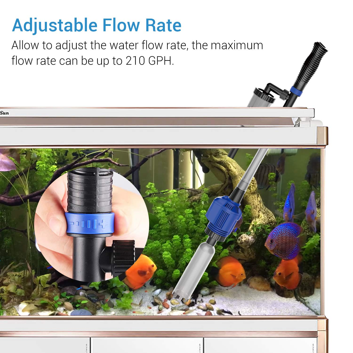Image 3 - 3 in 1 Electric Aquarium Vacuum Gravel Cleaner Automatic Water 