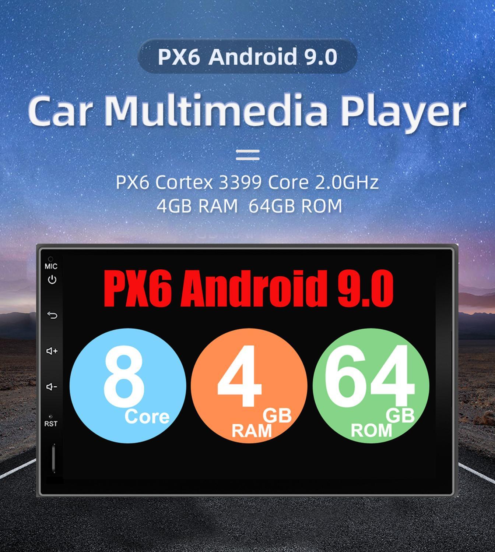 64G 2 din autoradio gps android voiture stéréo lecteur cassette enregistreur radio Tuner GPS Navigation RDS support 3G/4G TV box DAB OBD