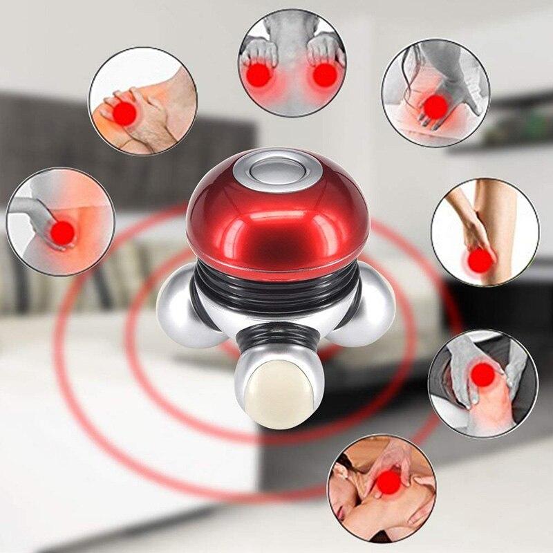Mini Elektrische Massager Griff-gehalten Massage Maschine mit Led Licht Tragbare Körper Vibrierende Massager Voller Körper Massage Werkzeug