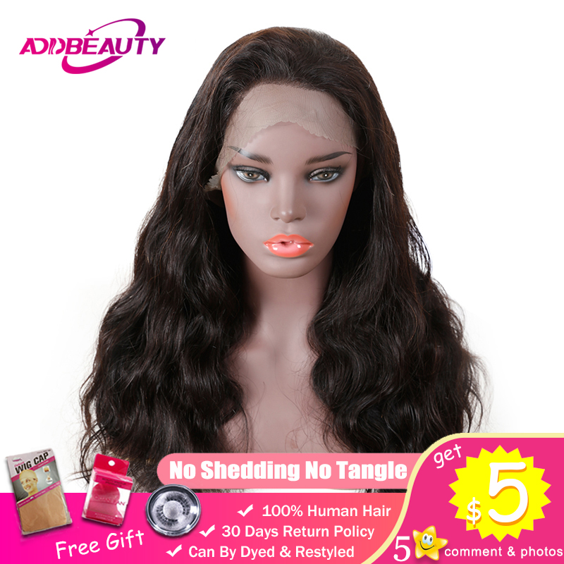 360 Lace Frontal Wigs For Black Woman Body Wave Brazilian Remy Human Hair 180% Density Pre Plucked Natural Color Hairline