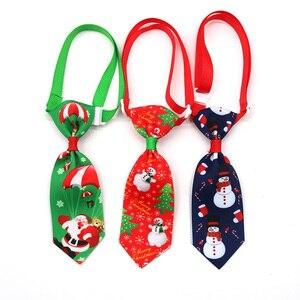 Image 5 - 100 шт., рождественские аксессуары для собак, ошейники для собак, кошек, галстуки бабочки, рождественские товары для домашних животных, ошейники для собак, аксессуары для домашних животных