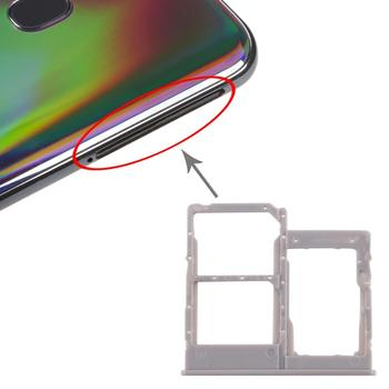 iPartsBuy SIM Card Tray + SIM Card Tray + Micro SD Card Tray for Galaxy A40 ipartsbuy sim card tray nm card tray for huawei p30