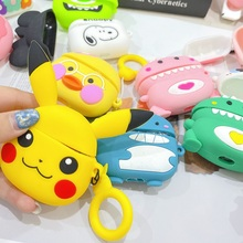 Soft Silicone Cartoon Wireless Bluetooth Earphone Case For Apple AirPods Silicone Charging Headphones Cases For Airpods Pro case 3d cute big hero wireless bluetooth earphone for apple airpods 1 2 silicone charging headphones cases baymax airpods pro covers