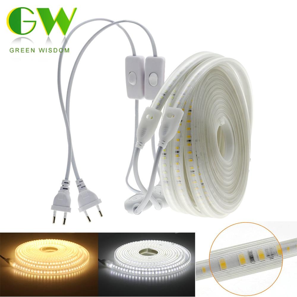 220V LED Strip 2835 Waterproof Flexible LED Light Tape High Safety High Brightness Soft LED Strip Lights For Outdoor Decoration