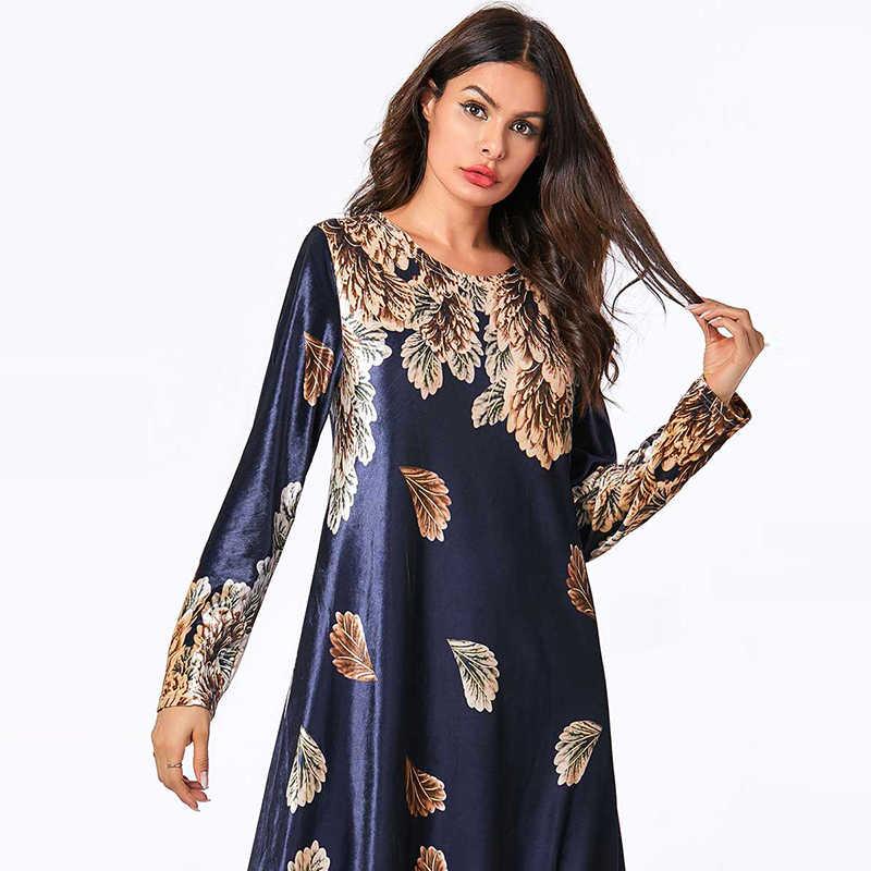 플러스 사이즈 겨울 벨벳 아랍어 abaya 두바이 hijab 이슬람 드레스 여성을위한 이슬람 의류 caftan kaftan 터키 드레스 라마단