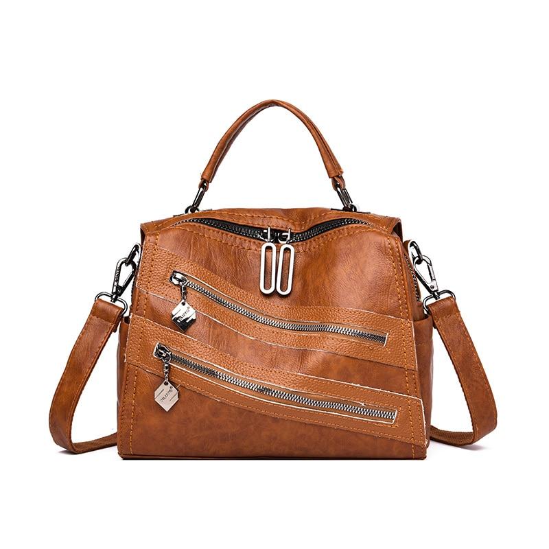 женская сумка натуральная кожа 2019 всместильная чёрная сумочка для женщин pommax H19 004 женская сумка через плечо