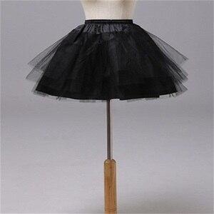 Image 4 - חדש לגמרי ילדי תחתוניות עבור פורמליות/פרח ילדה שמלת 3 שכבות Hoopless קצר קרינולינה קטן בנות/ילדים/ילד תחתוניות