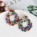 JUJIA Разноцветные серьги в стиле бохо, Кристальные Висячие серьги, большие модные серьги для женщин, вечерние серьги, оптовая продажа, ювелир...