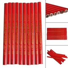 10x 175mm Carpenters Pencils Black Lead For DIY Builders Joiners Woodworking New Drop Shipping