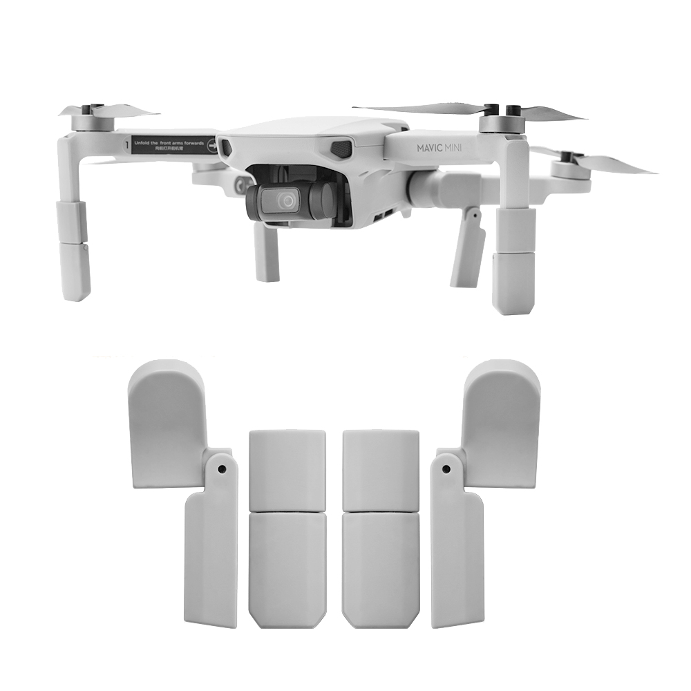 Landing Gear Kits For DJI Mavic Mini Drone Quick Release Feet Extensions Landing Safety Height Extender Accessory ABS Material