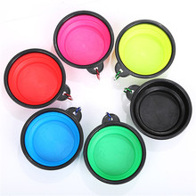 Pet Soft Dog Bowl 1PC Folding Silicone Travel For Portable Collapsible for Cat Food Water Feeding